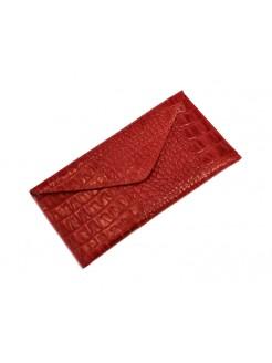 Портмоне  Lucky Exclusive Крокодил 3 Красный