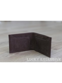 Портмоне Lucky Exclusive Vintage 4 Коричневый крейзи оптом