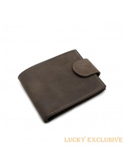 Портмоне Lucky Exclusive Vintage 7 Коричневый Крейзи оптом