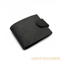 Портмоне Lucky Exclusive Vintage 7 Черный Крейзи оптом