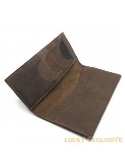 Портмоне Lucky Exclusive Vintage 5 Коричневый крейзи оптом
